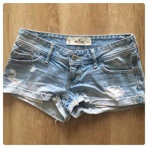 Hollister Low-Rise Light Denim Shorts